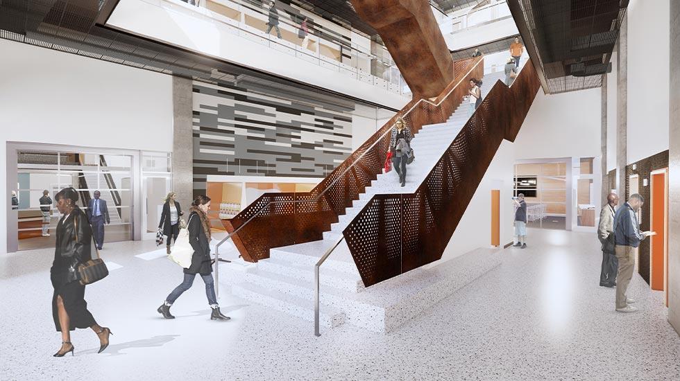 New Engineering Complex Atrium Rendering