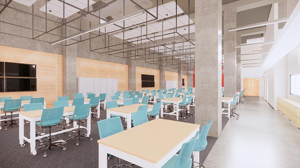 New Engineering Complex ICS Classroom Rendering