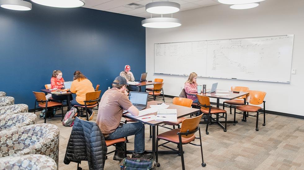 Study room in Tickle Engineering Building
